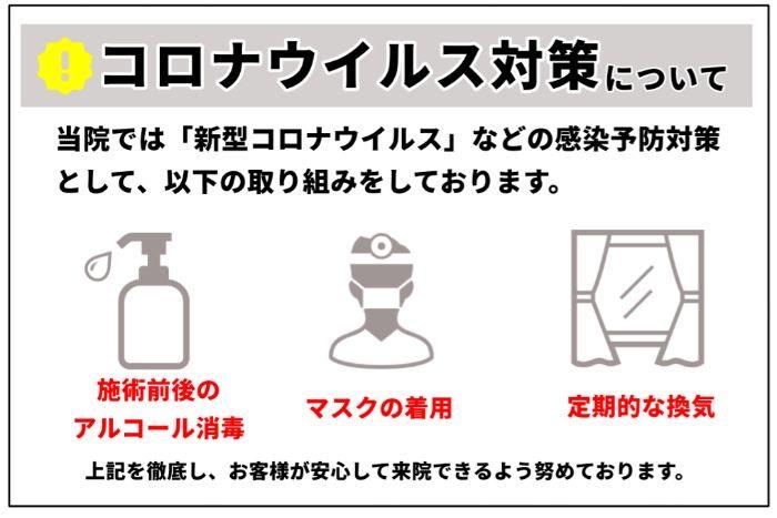 新型コロナウイルス感染拡大防止対策の取組みについて